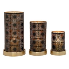 Modern Reflections Swirl Candle Holders 3-piece Set