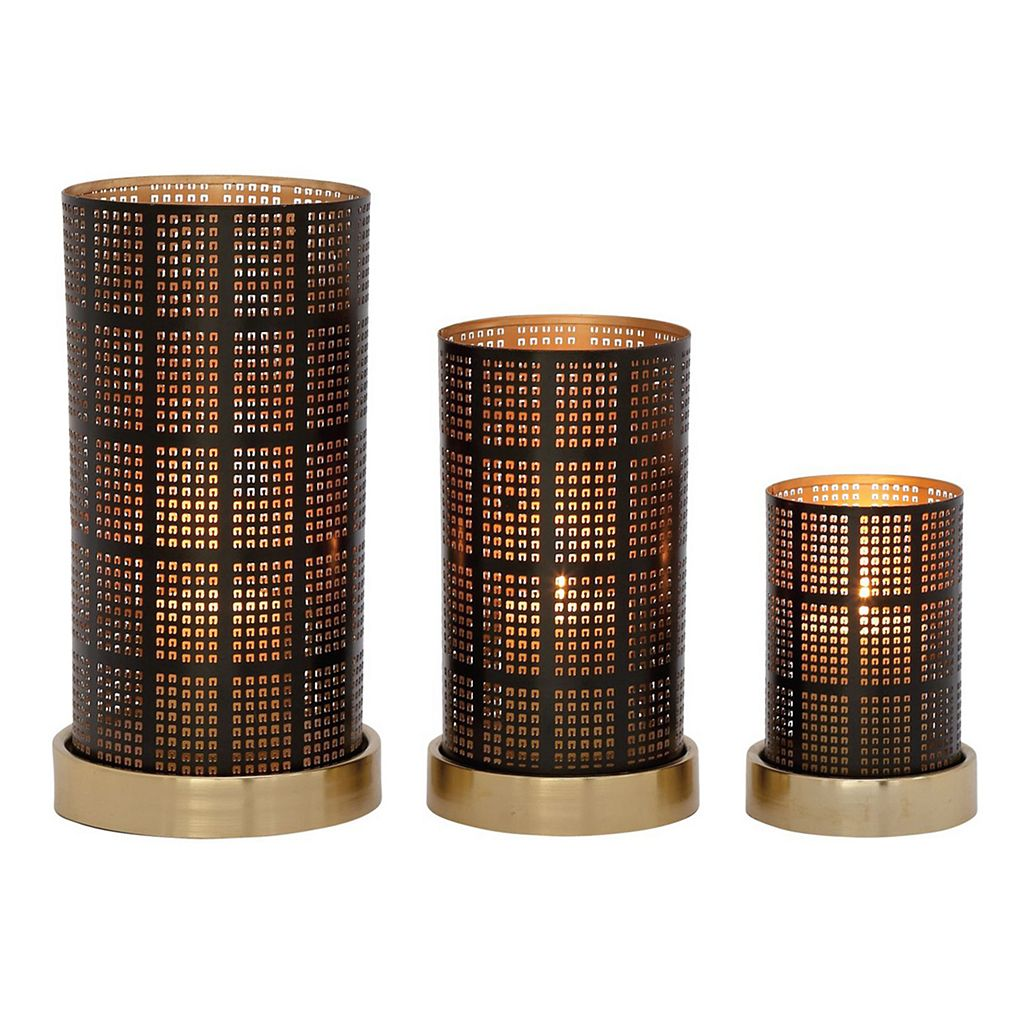 Modern Reflections Squares Candle Holders 3-piece Set