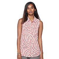 Women's Apt. 9® Split-Back Sleeveless Blouse