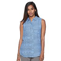 Women's Apt. 9® Split-Back Sleeveless Blouse