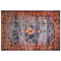 LA Rug Inc Gemini Red Framed Floral Rug - 5' x 7'