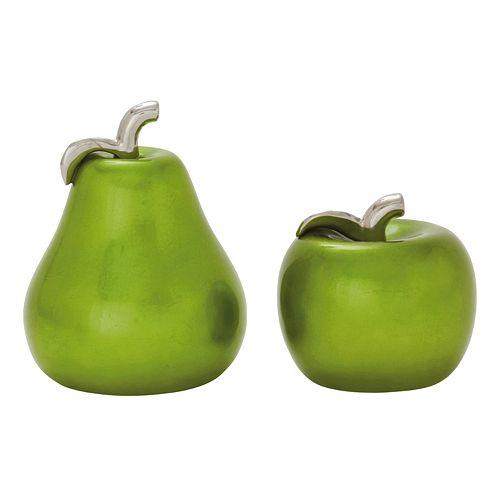 Apple & Pear Table Decor 2-piece Set