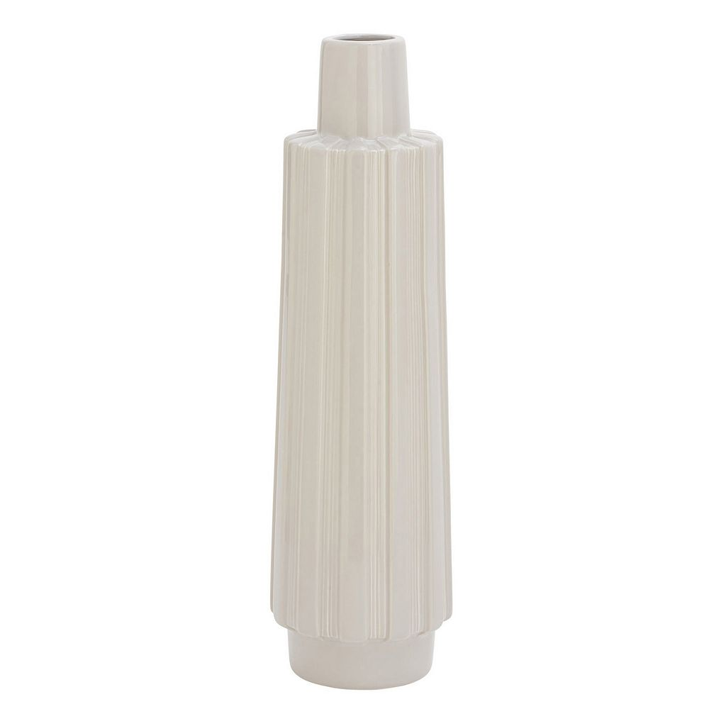 Textured Slim Vase Table Decor