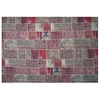 LA Rug Inc Gemini Red Tile Rug - 5' x 7'