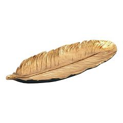Feather Tray Table Decor