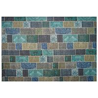 LA Rug Inc Gemini Blue Tile Rug - 5' x 7'