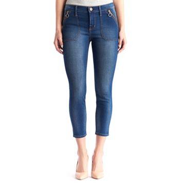 Women's Rock & Republic® Zipper Pocket Crop Jean Leggings