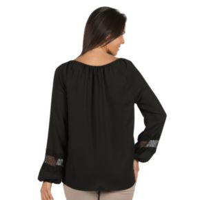 Women's Harve Benard Lace-Trim Peasant Top