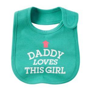 Baby Girl Carter's Family Slogan Bib