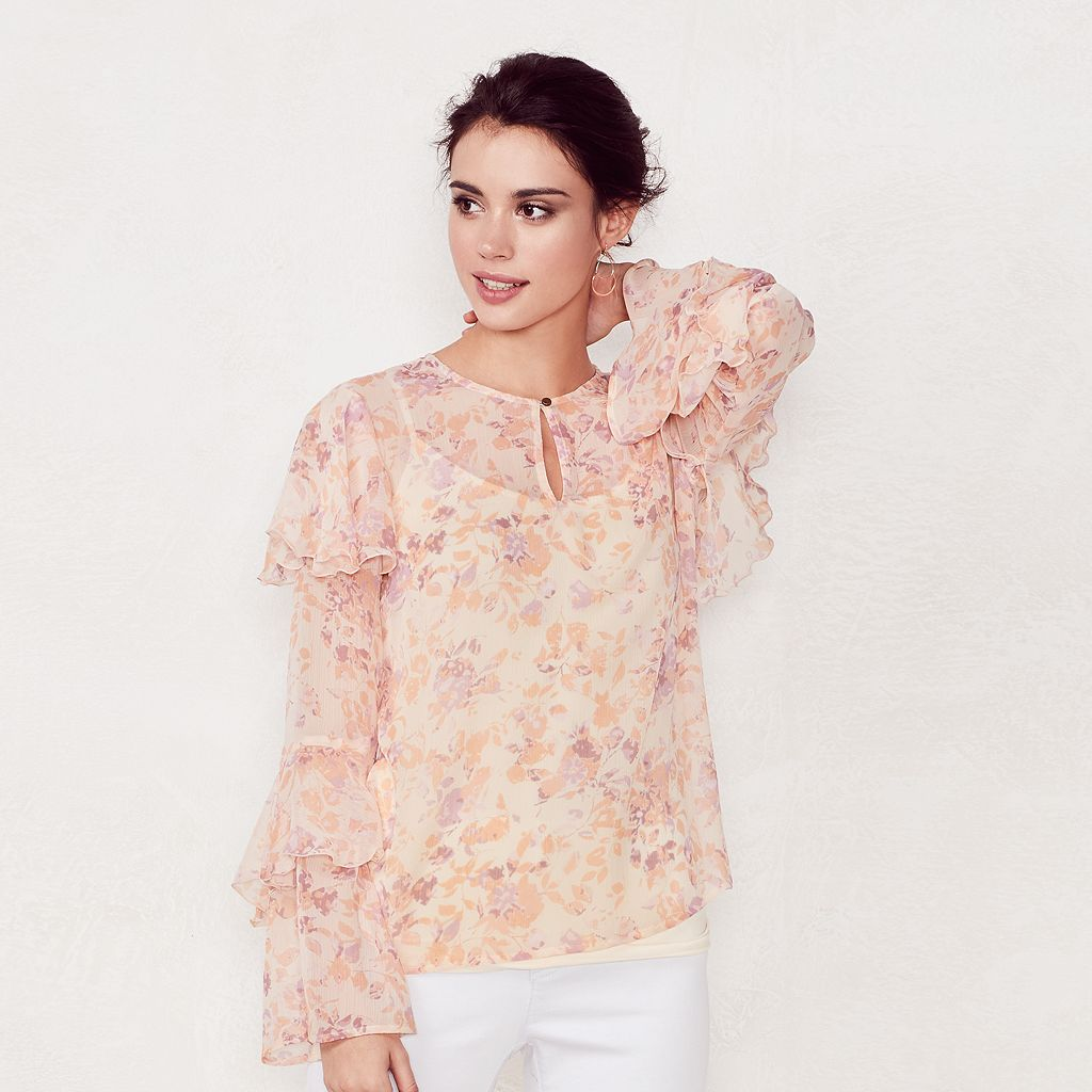 Women's LC Lauren Conrad Tiered Ruffle Blouse