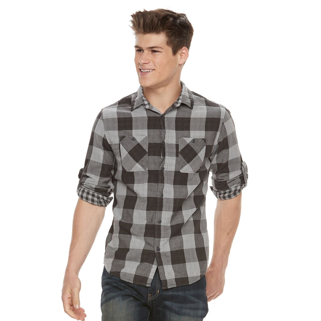 Men's Urban Pipeline® Buffalo Check Button-Down Shirt