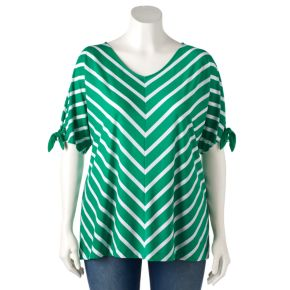Plus Size Croft & Barrow® Striped Dolman Tee