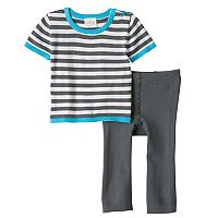 Baby Boy Cuddl Duds Striped Nautical Knit Top & Pants Set
