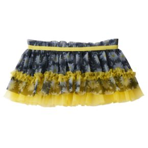 Baby Girl Baby Starters Floral Tiered Tulle Skirt