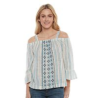 Women's SONOMA Goods for Life™ Striped Off-the-Shoulder Top