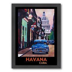 Americanflat 'Havana Cuba' Framed Wall Art