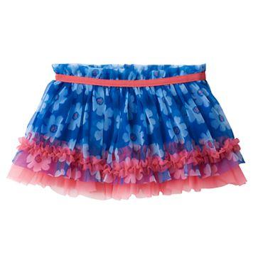 Baby Girl Baby Starters Floral Ruffle Tulle Skirt