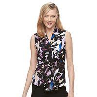Women's Dana Buchman Tie-Front Crepe Top
