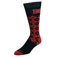 Men's Mojo Nebraska Cornhuskers Argyle Socks
