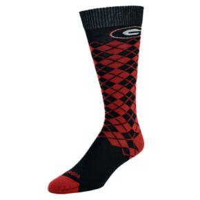 Men's Mojo Georgia Bulldogs Argyle Socks