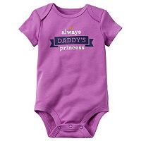 Baby Girl Carter's Family Slogan Bodysuit