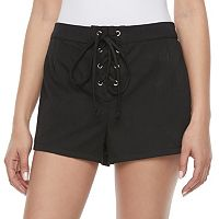 Disney Pirates of the Caribbean: Juniors Collection Lace-Up Shortie Shorts