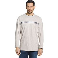 Men's Arrow Classic-Fit Chest-Striped Mock-Layer Crewneck Sweatshirt