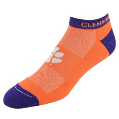 Men's Clemson Tigers Spirit No-Show Socks
