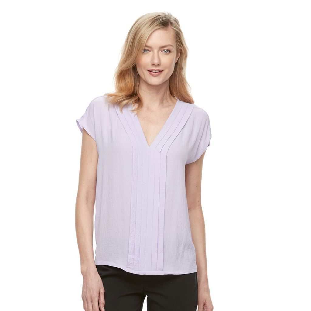 Women's Dana Buchman Textured Crepe Top