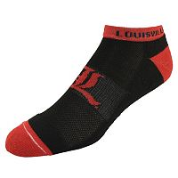 Men's Louisville Cardinals Spirit No-Show Socks