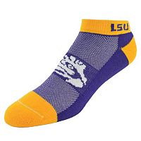Men's LSU Tigers Spirit No-Show Socks