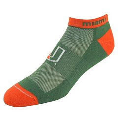 Men's Miami Hurricanes Spirit No-Show Socks