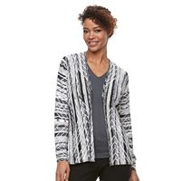 Women's Dana Buchman Textured Drop-Shoulder Cardigan