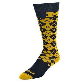 Women's Mojo Michigan Wolverines Argyle Socks