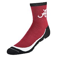 Men's Alabama Crimson Tide Grip the Turf Quarter-Crew Socks