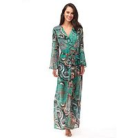Women's Indication by ECI Paisley Faux-Wrap Maxi Dress