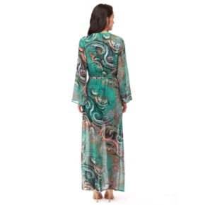 Women's Indication by ECI Paisley Faux-Wrap Maxi Dress