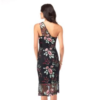 Women's Indication by ECI One-Shoulder Floral Sheath Dress