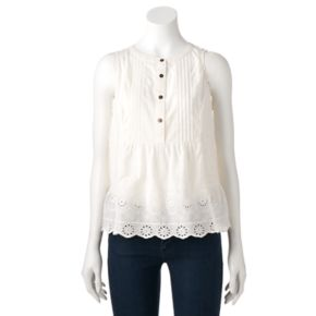 Women's SONOMA Goods for Life? Embroidered Eyelet Top