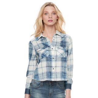 Women's Rock & Republic® Crop Plaid Shirt