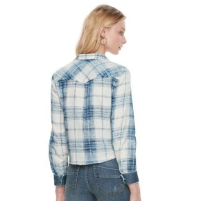 Women's Rock & Republic® Crop Plaid Shirt