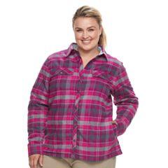 Plus Size Columbia Waverly Mountain Plaid Shirt