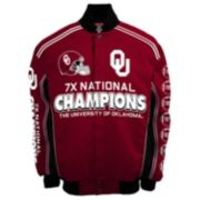 Men's Franchise Club Oklahoma Sooners Commemorative Varsity Jacket