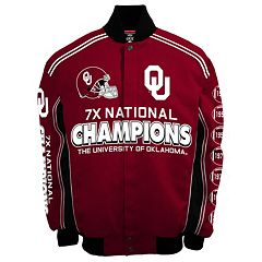 Men's Franchise Club Oklahoma Sooners Commemorative Varsity Jacket