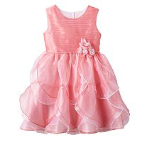 Girls 4-6x Nannette Pink Organza Petal Dress