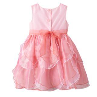 Girls 4-6x Nannette Pink Organza Petal Dress