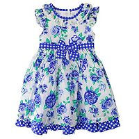 Girl's 4-6x Nannette Floral Swiss-Dot Dress