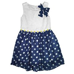 Girls 4-6x Nanette Dot Chiffon Dress