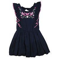 Girls 4-6x Nanette Embroidered Woven Dress