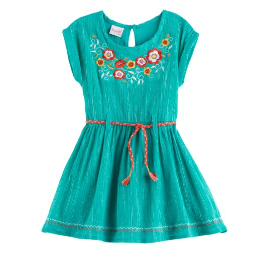 Girls 4-6x Nannette Embroidered Woven Dress